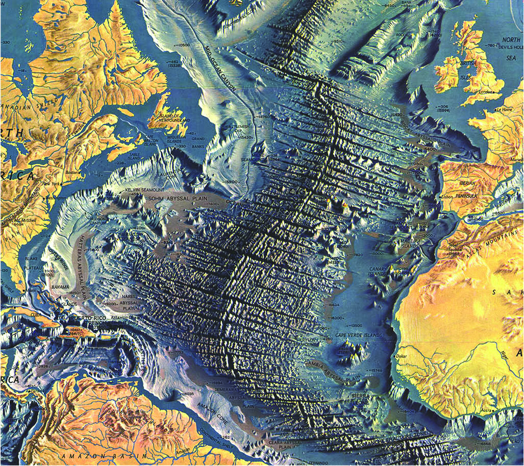 Topographic Map Of Ocean Floor.Map Examples Commission On Map Design
