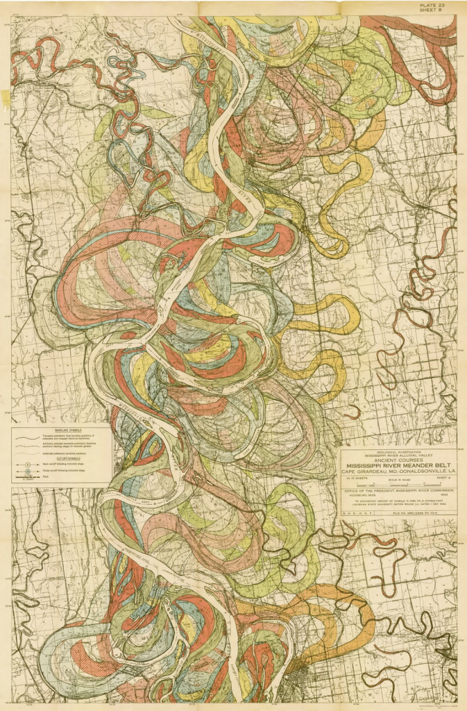 MapCarte Alluvial Map Of The Lower Mississippi Valley By - Map of the mississippi