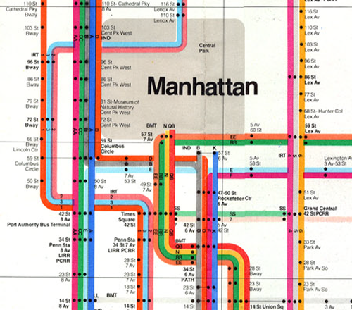Subway Map New York Manhatten.Mapcarte 79 365 New York City Subway Map By Massimo Vignelli 1972