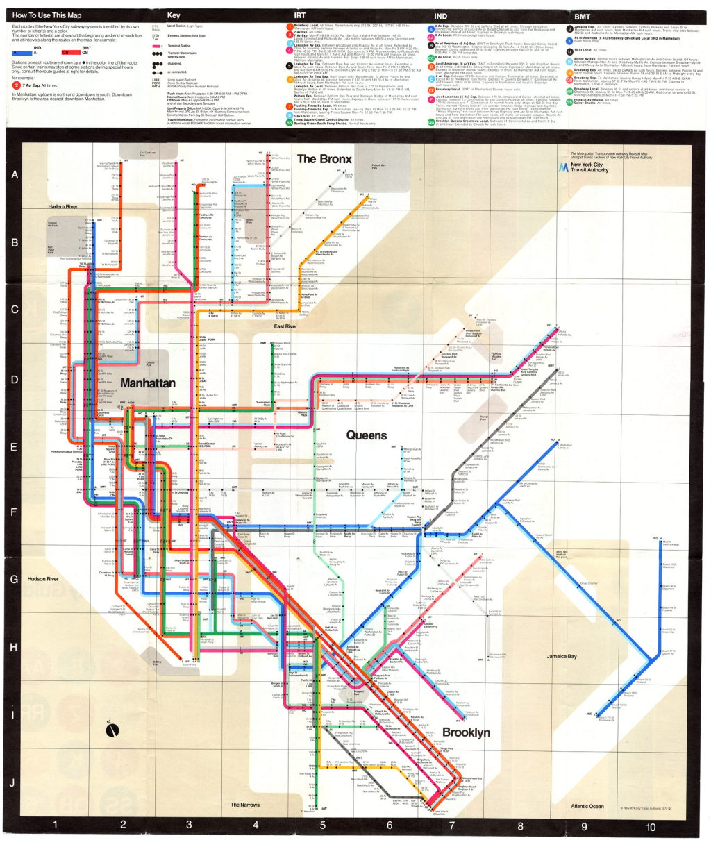 Brooklyn Subway Map Minimal.Mapcarte Commission On Map Design Page 30
