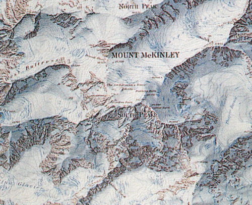 Denali National Park Topographic Map.Mapcarte 105 365 Mount Mckinley By Bradford Washburn Swiss