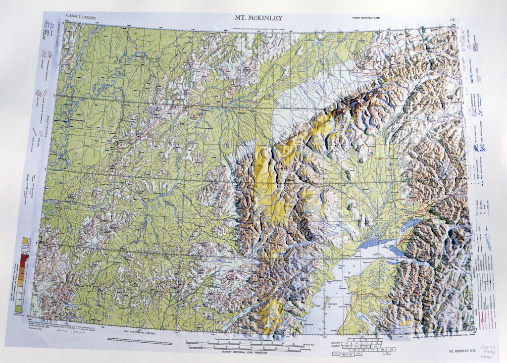 MapCarte 109365 Mt McKinley by US Army Corp of Engineers 1941