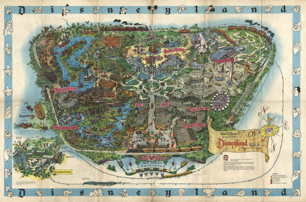 MapCarte 114/365: Disneyland by Sam McKim, 1958-1964 ...