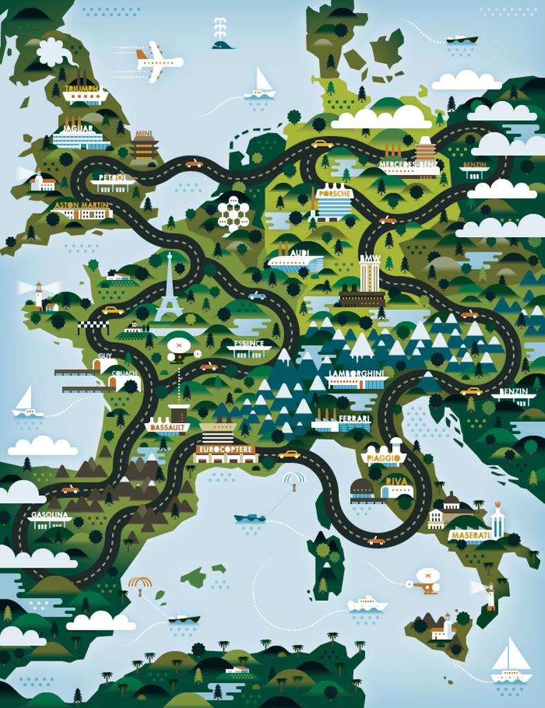 Mapcarte 191 365 european car manufacturers by khuan for European design firms