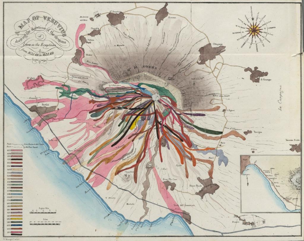 MapCarte Map Of Vesuvius By John Auldjo - Vesuvius map