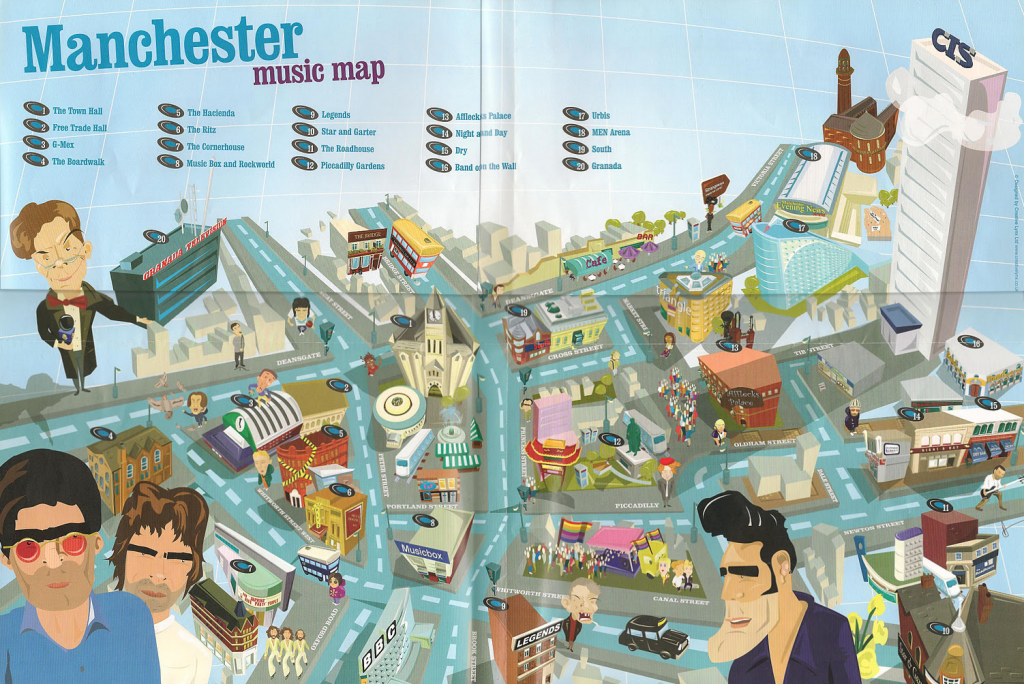 MapCarte 205365 Manchester Music Map By CreativeLynx C