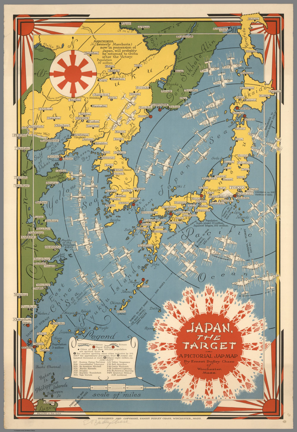 Historical maps of japan japan the target an american wii propaganda map gumiabroncs Image collections