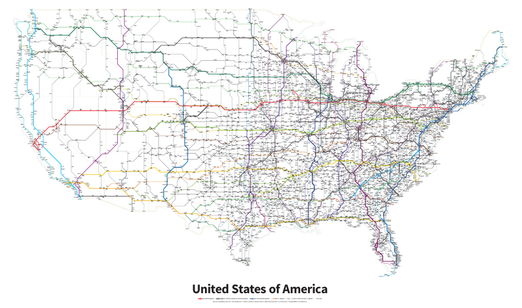 Mapcarte 273365 Highways Of The United States Of America By - Us-atlas-map-with-highways
