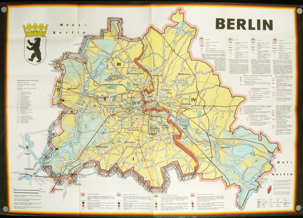 MapCarte 301/365: Berlin by Anon, Ca 1964 | Commission on ...