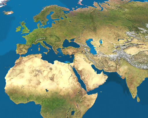 MapCarte Satellite Map Of Earth By Tom Van Sant - World satellite map 2014