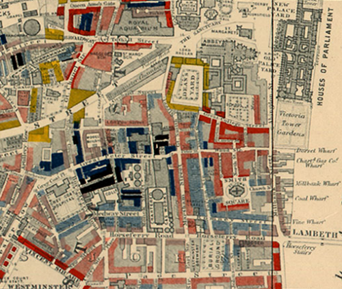 Charles Booth Map MapCarte 161/365: Maps Descriptive of London Poverty, by Charles